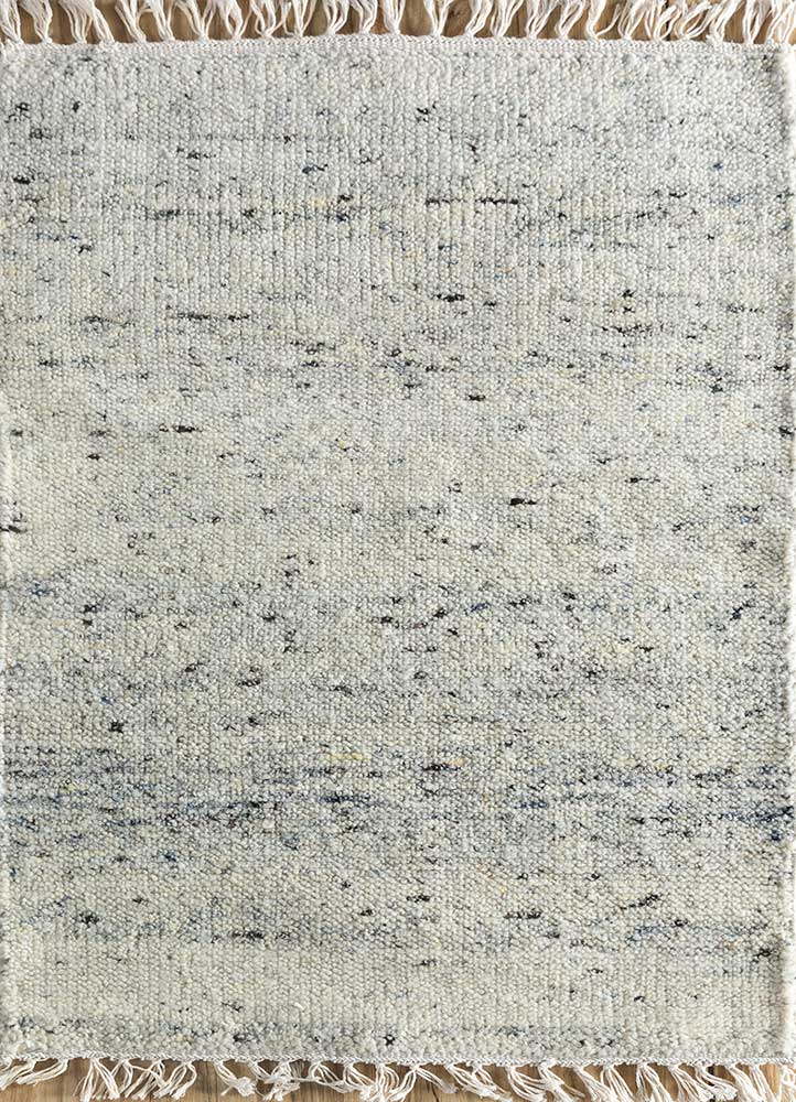 PKWL-719 Snow White/Snow White ivory wool hand knotted Rug