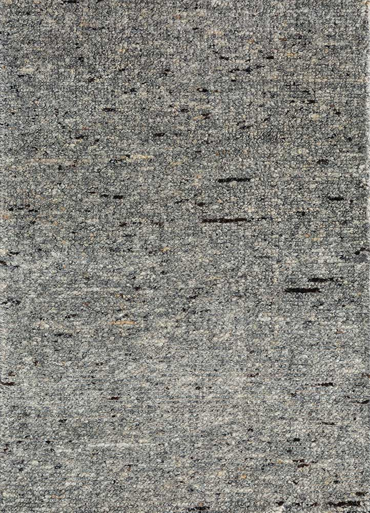 PKWL-753 Charcoal Gray/Charcoal Gray grey and black wool hand knotted Rug