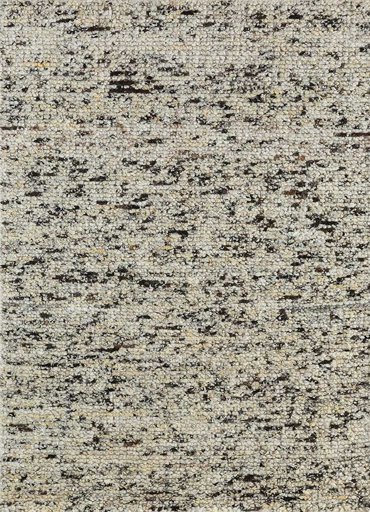PKWL-753 Winter White/Winter White ivory wool hand knotted Rug