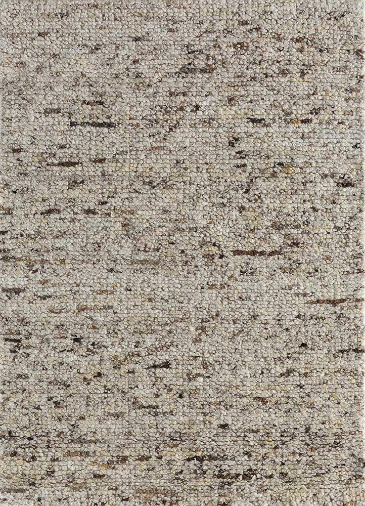 PKWL-753 Snow White/Snow White ivory wool hand knotted Rug