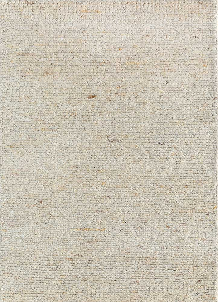 PKWL-753 Cloud White/Cloud White ivory wool hand knotted Rug