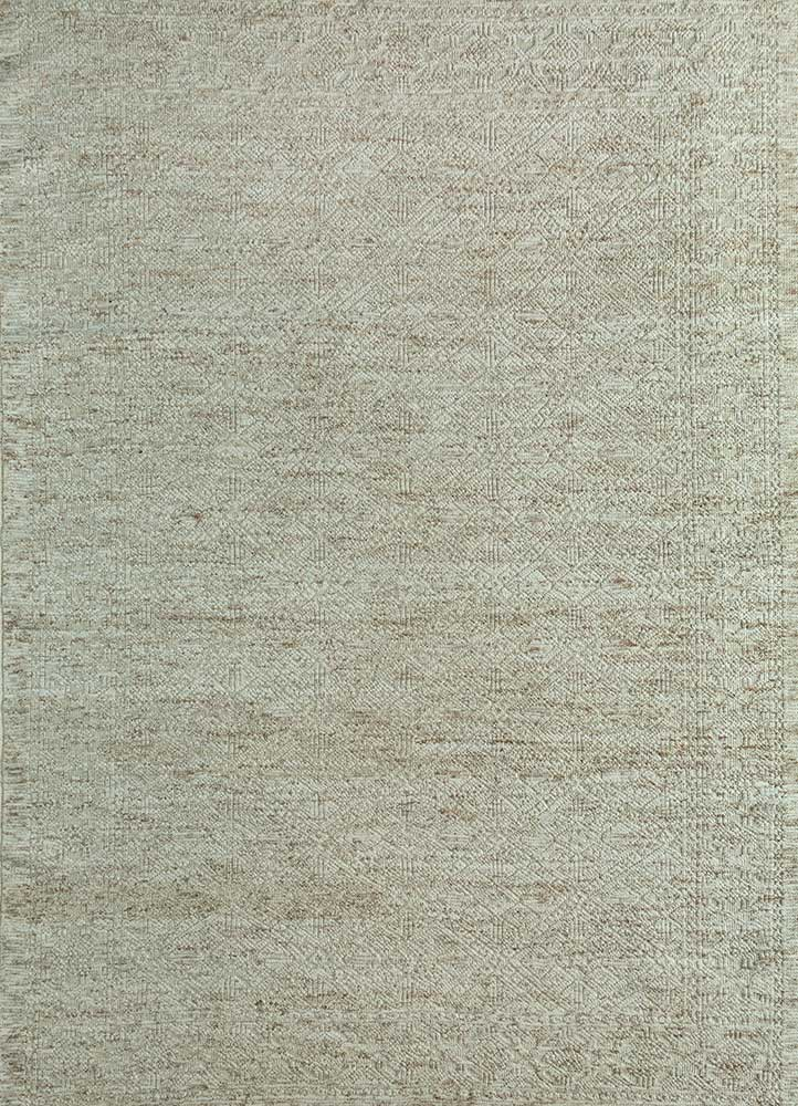revolution ivory wool hand knotted Rug - HeadShot