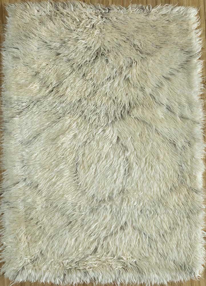 nadia ivory wool hand knotted Rug - HeadShot