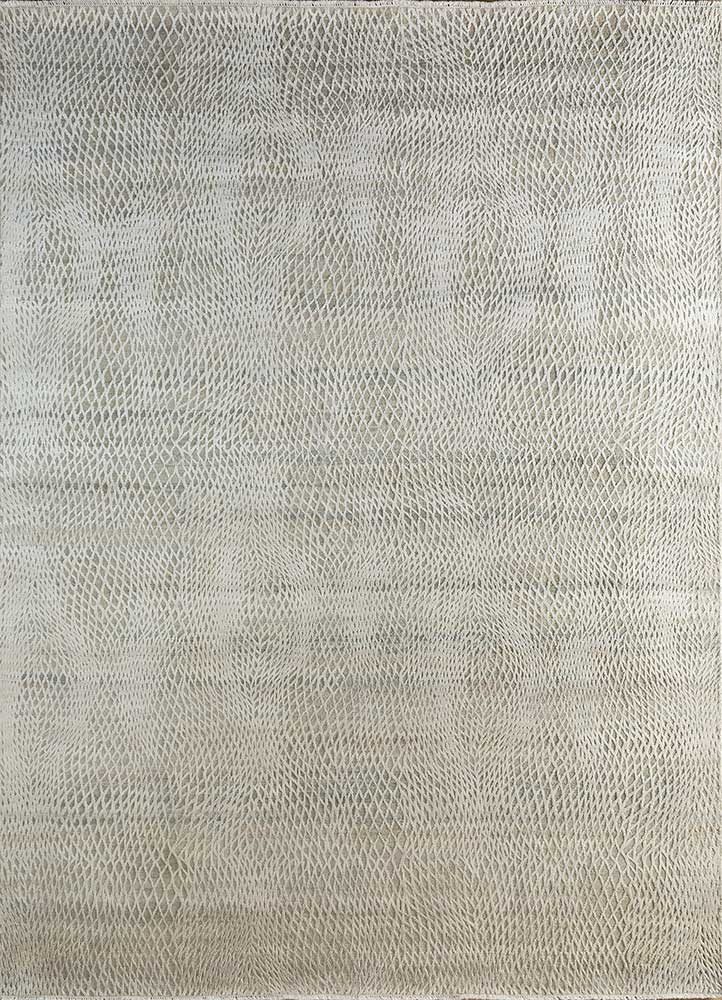 PKWS-489 Ivory/Ivory ivory wool and silk hand knotted Rug