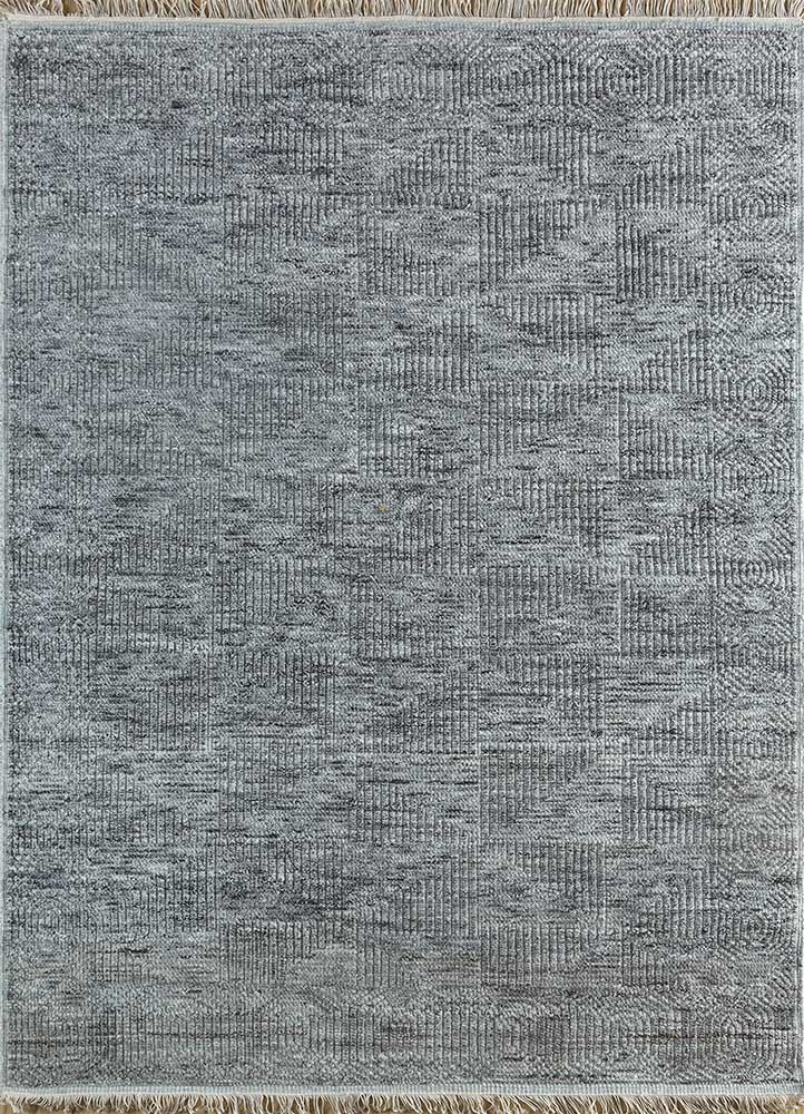 cleo beige and brown wool and viscose hand knotted Rug - HeadShot