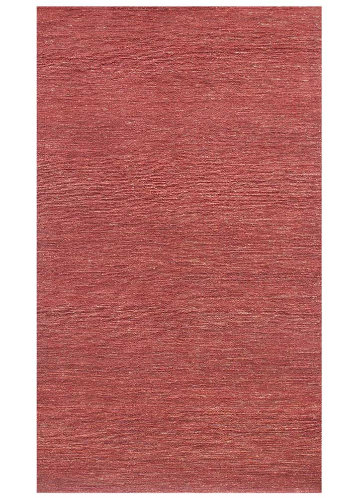 PX-01 Soft Coral/Soft Coral red and orange jute and hemp flat weaves Rug