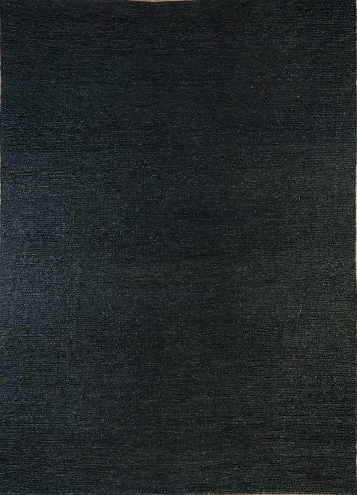 PX-01 Liquorice/Liquorice grey and black jute and hemp flat weaves Rug