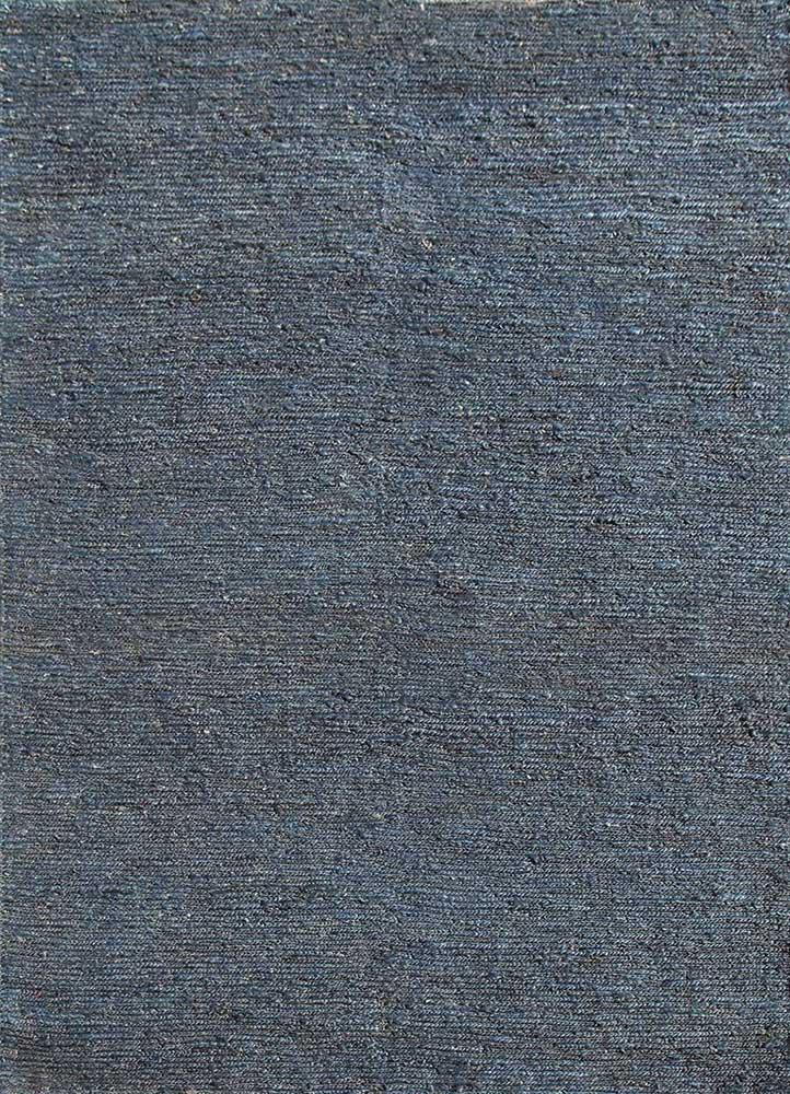 PX-01 Medium Navy/Medium Navy blue jute and hemp jute rugs Rug