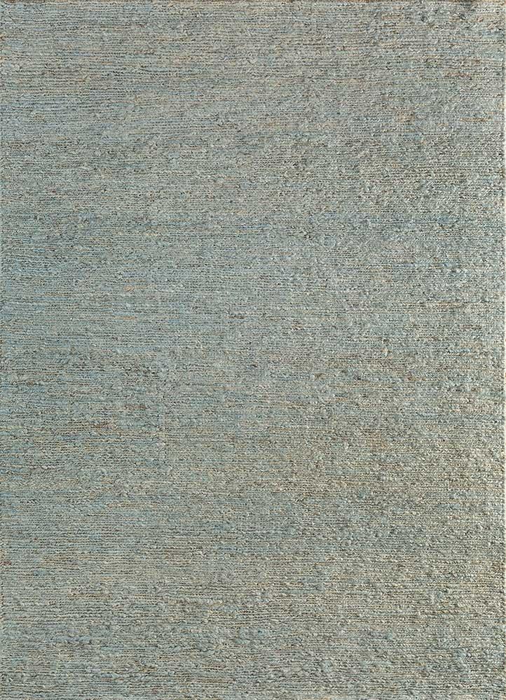 abrash blue jute and hemp jute rugs Rug - HeadShot