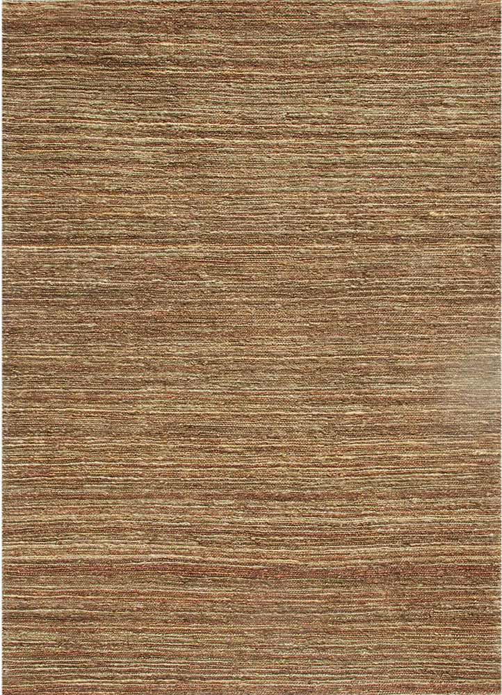PX-03 Soil Brown/Soil Brown beige and brown jute and hemp flat weaves Rug