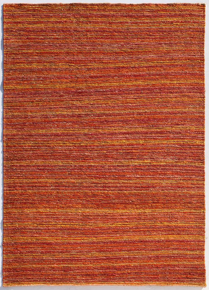 abrash red and orange jute and hemp jute rugs Rug - HeadShot
