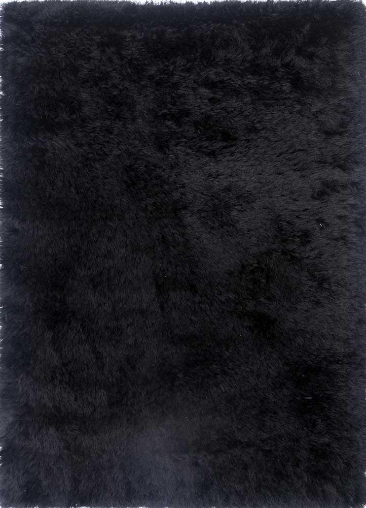 verve grey and black polyester shag Rug - HeadShot