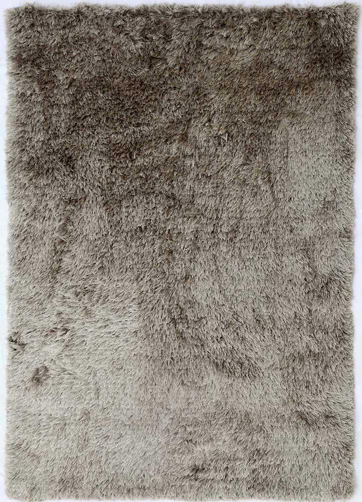 verve beige and brown polyester shag Rug - HeadShot