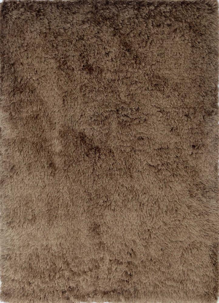 PX-1371 Medium Brown/Medium Brown beige and brown polyester shag Rug