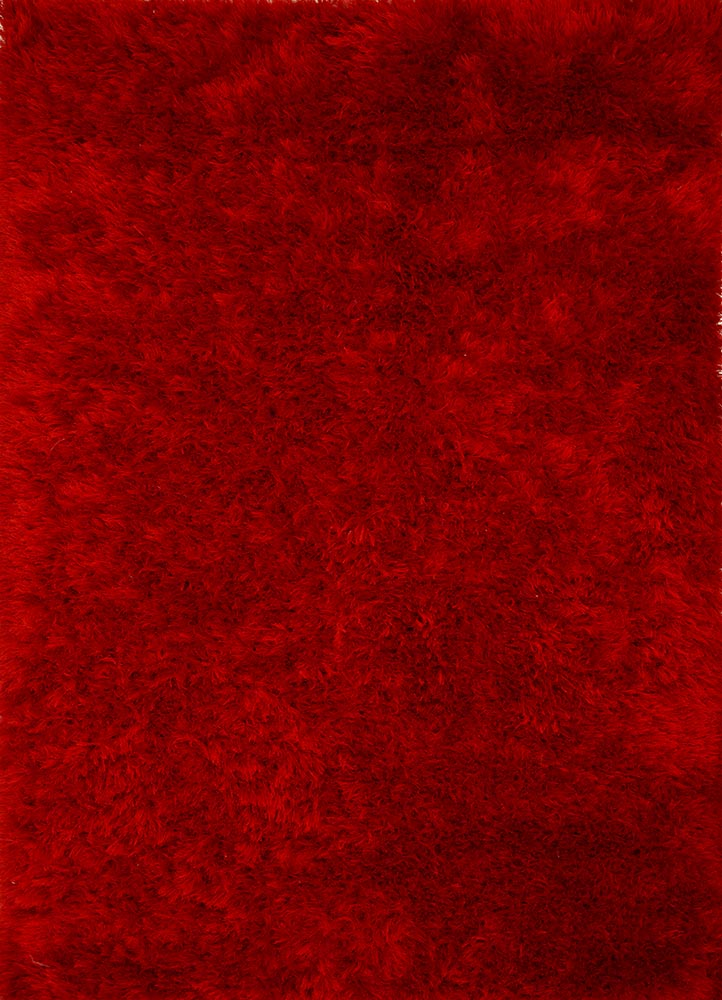 PX-1371 Mars Red/Mars Red red and orange polyester shag Rug