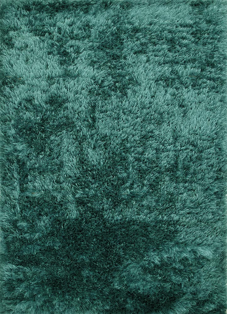 PX-1371 Seaside Blue/Seaside Blue blue polyester shag Rug