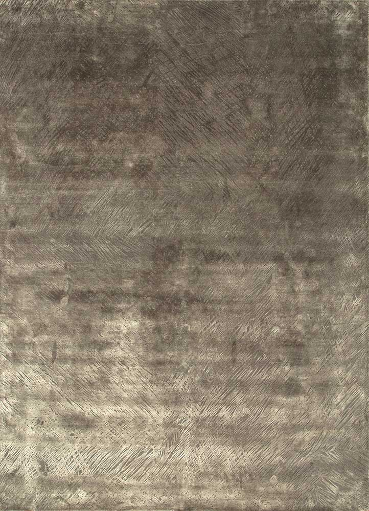 QM-951 Charcoal Slate/Liquorice grey and black wool and silk hand knotted Rug