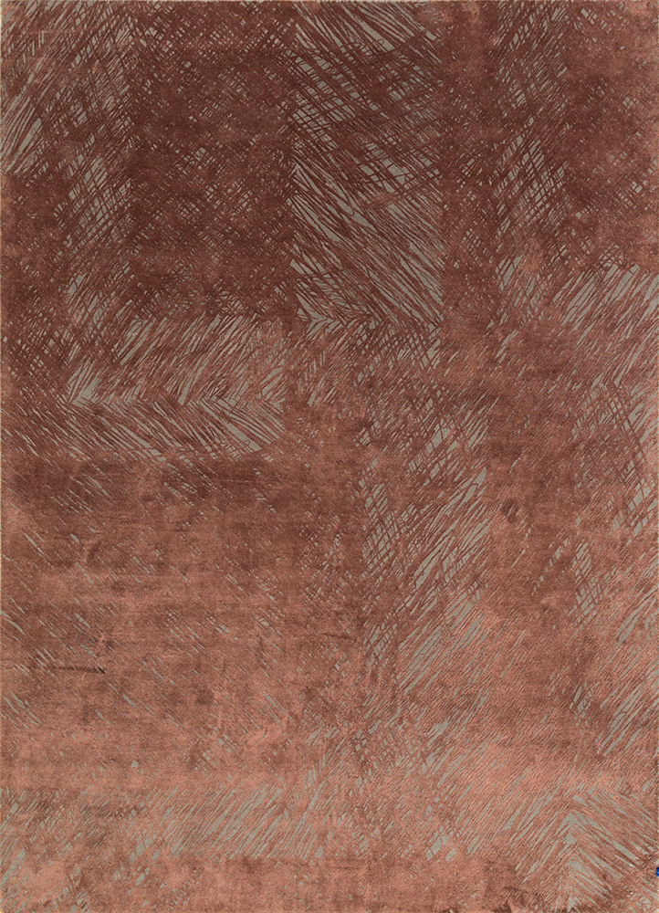 QM-951 Ashwood/Espresso grey and black wool and silk hand knotted Rug