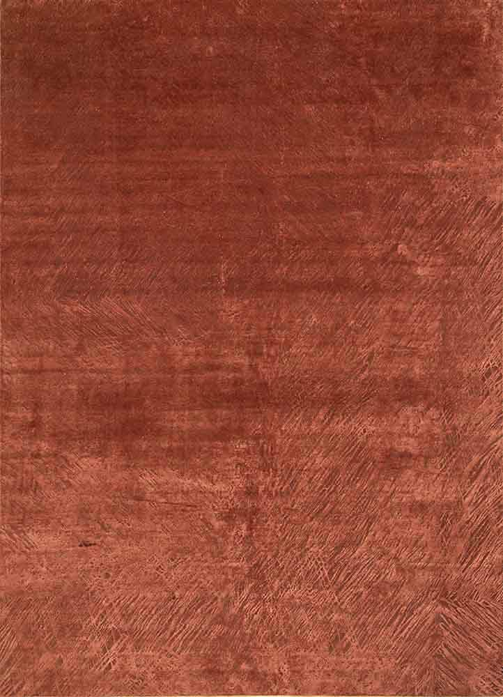 QM-951 Baked Clay/Baked Clay red and orange wool and silk hand knotted Rug