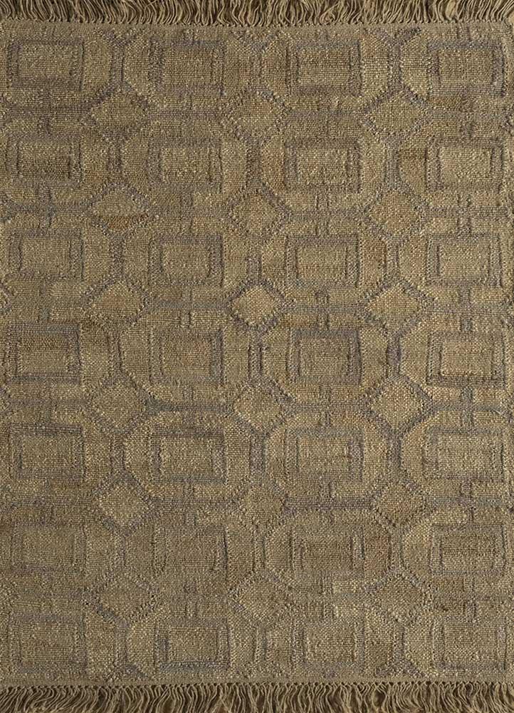 SDJT-135 Light Camel/Brown beige and brown jute and hemp flat weaves Rug