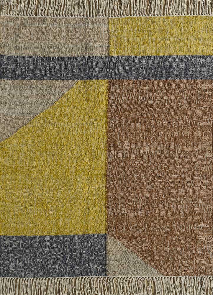 spatial beige and brown jute and hemp jute rugs Rug - HeadShot