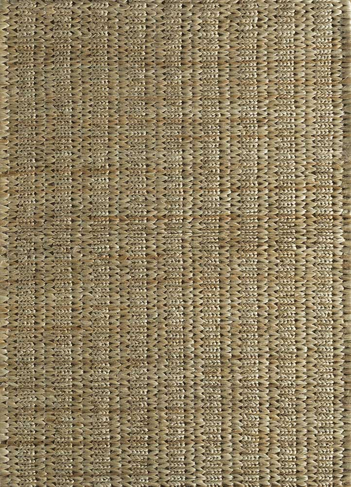 abrash beige and brown jute and hemp jute rugs Rug - HeadShot