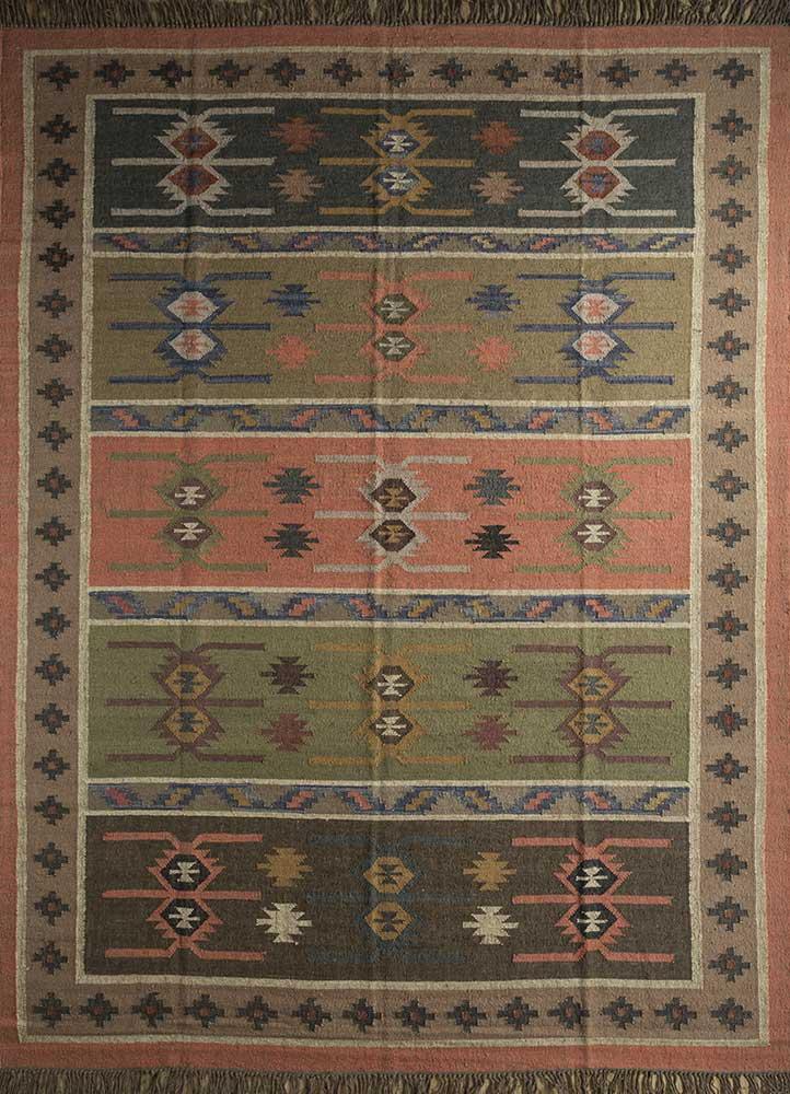 bedouin pink and purple jute and hemp jute rugs Rug - HeadShot