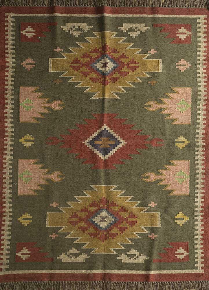 bedouin green jute and hemp jute rugs Rug - HeadShot