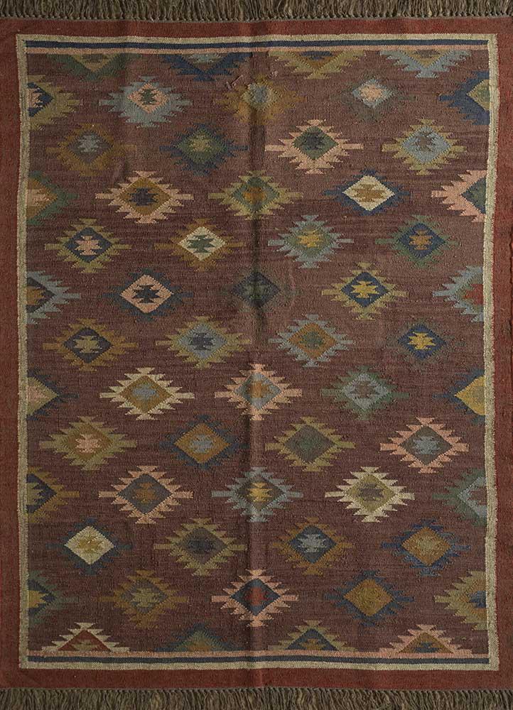 bedouin beige and brown jute and hemp jute rugs Rug - HeadShot