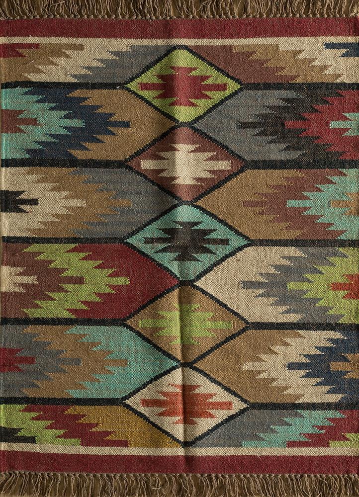 bedouin gold jute and hemp jute rugs Rug - HeadShot
