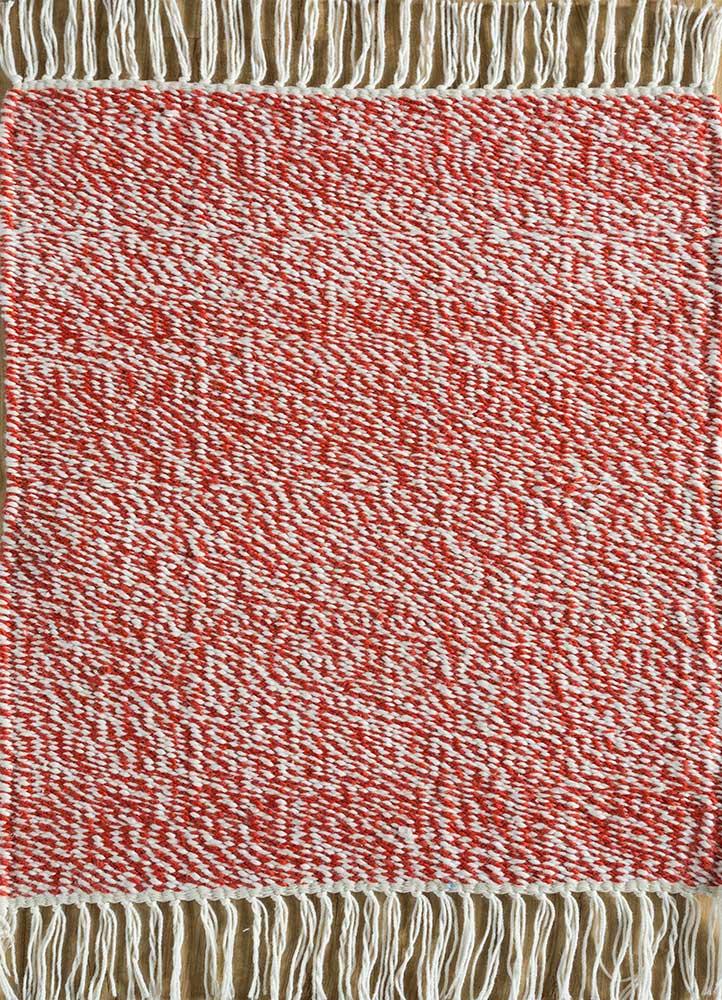 SDPL-91 White/Velvet Red ivory others flat weaves Rug