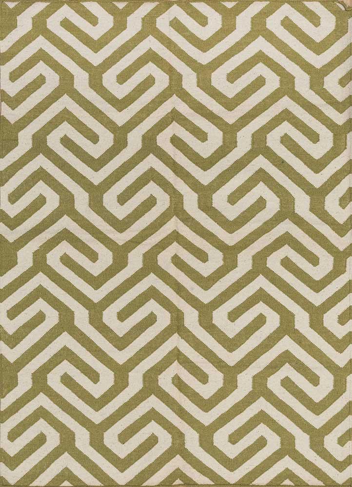 SDWL-143 Oasis Green/White green wool flat weaves Rug