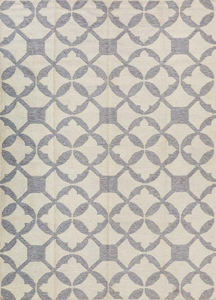 SDWL-146 Antique White/Chicory ivory wool flat weaves Rug