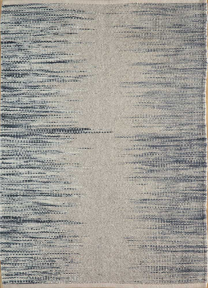 abrash grey and black wool flat weaves Rug - HeadShot