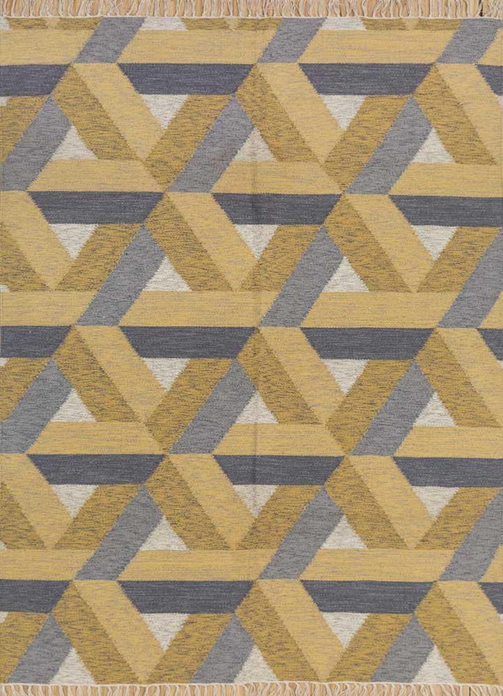 anatolia gold wool flat weaves Rug - HeadShot