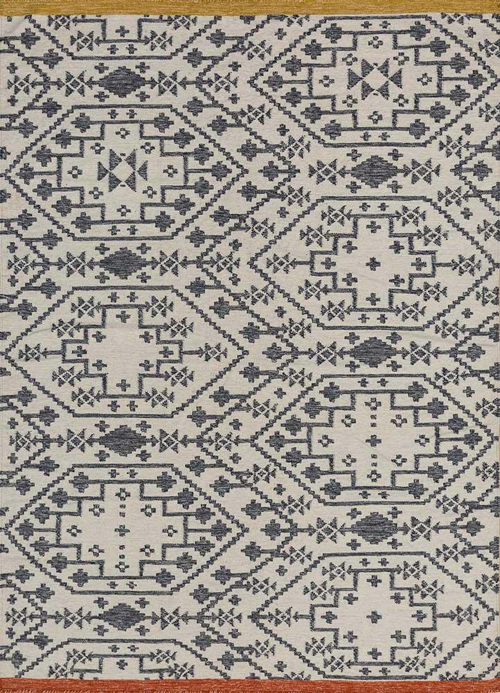 bedouin ivory wool flat weaves Rug - HeadShot