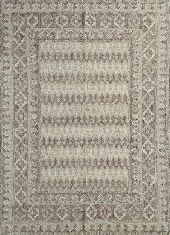 SDWL-312 Ivory/Brown ivory wool flat weaves Rug