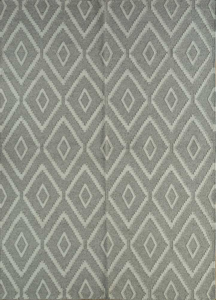SDWL-378 Natural Gray/Natural White beige and brown wool flat weaves Rug