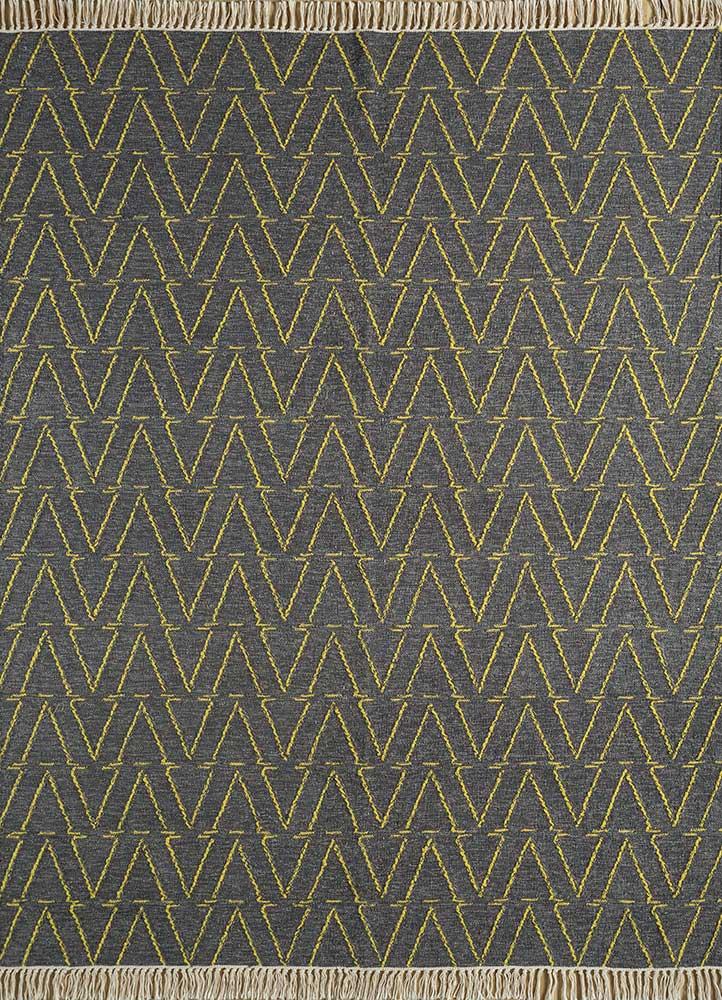 SDWL-403 Mushroom/Yellow flash beige and brown wool flat weaves Rug