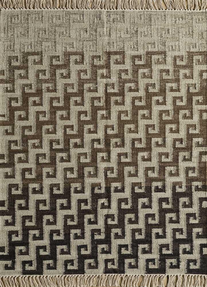 souk ivory wool flat weaves Rug - HeadShot