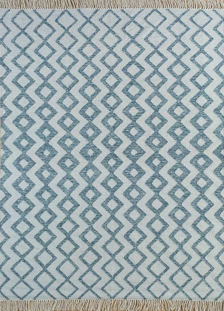 indusbar gold wool flat weaves Rug - HeadShot