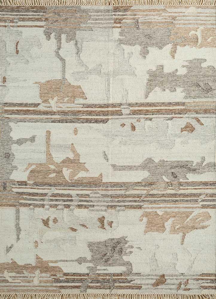 indusbar ivory wool flat weaves Rug - HeadShot