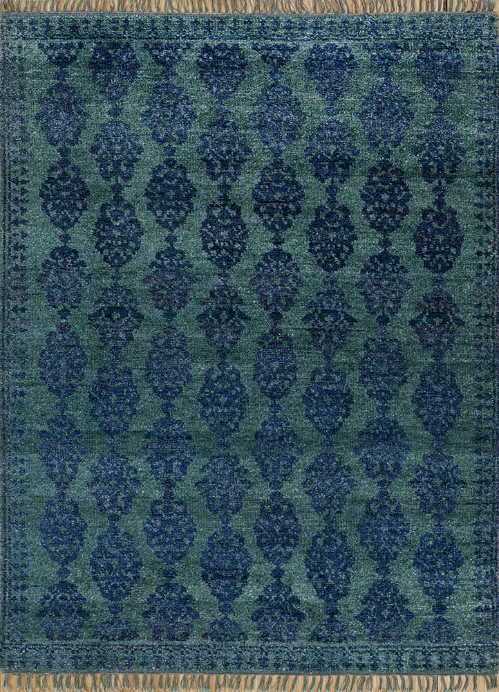 liberty green others hand knotted Rug - HeadShot