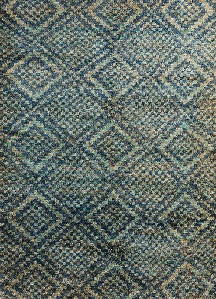 anatolia blue jute and hemp shag Rug - HeadShot