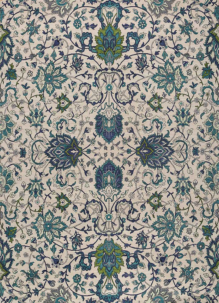 SPR-7501 Antique White/Capri ivory wool hand knotted Rug