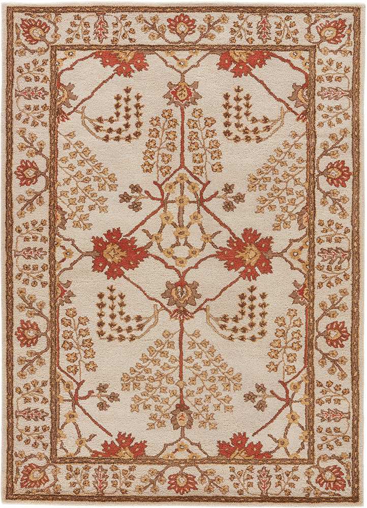 TAC-966 Antique White/Antique White ivory wool hand tufted Rug