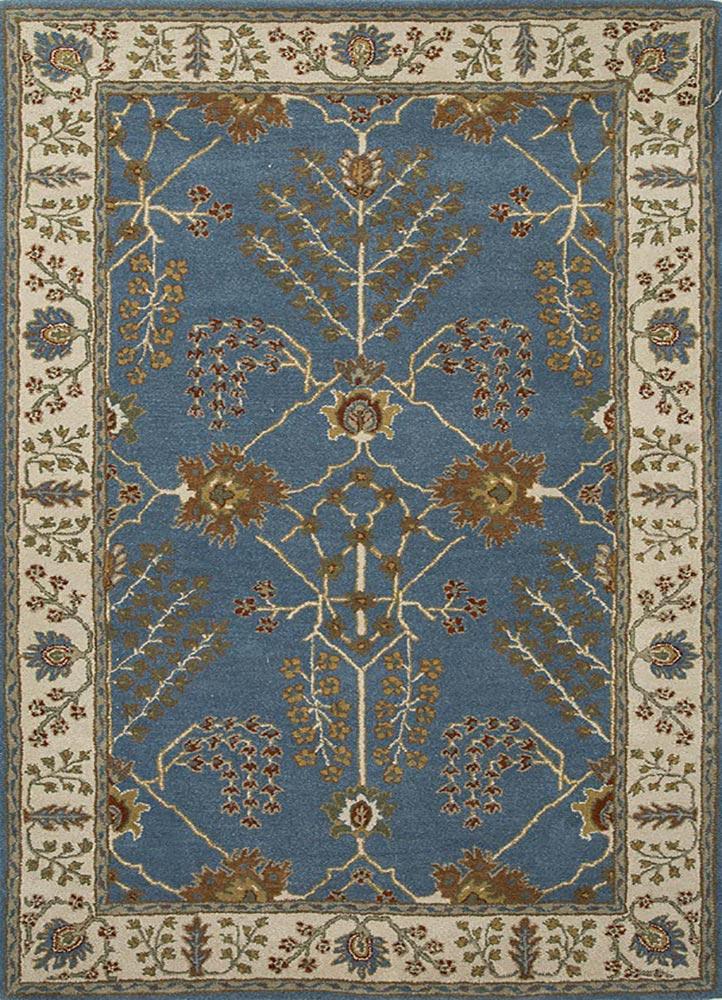 TAC-966 Aegean Blue/Dark Ivory blue wool hand tufted Rug
