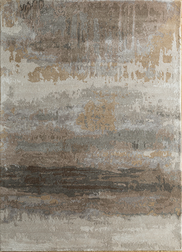 TAQ-4304 Classic Gray/Antique White grey and black wool and viscose hand tufted Rug