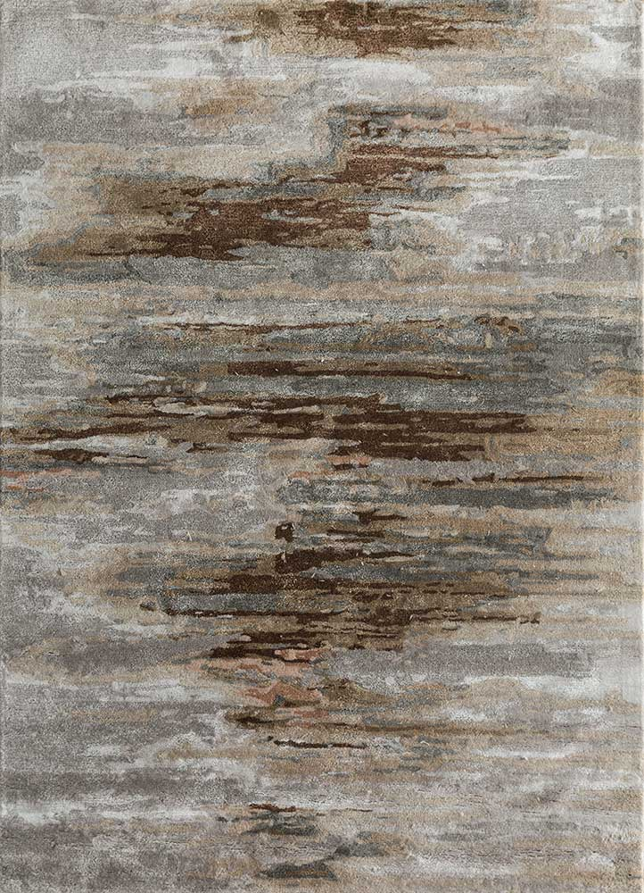 TAQ-4305 Classic Gray/Beige grey and black wool and viscose hand tufted Rug