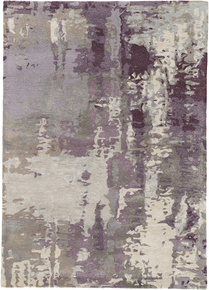 TAQ-4306 Classic Gray/Mauve grey and black wool and viscose hand tufted Rug